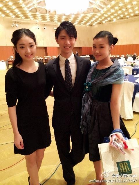 羽生結弦×村上佳菜子×ジジュン・リー NHK杯バンケット