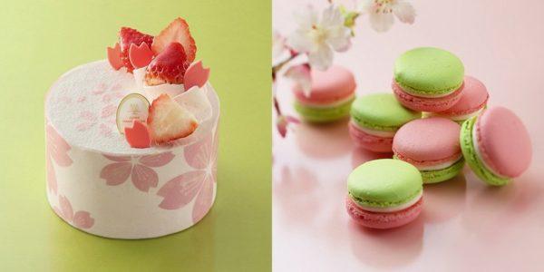 アンリ・シャルパンティエの限定「桜スイーツ」、花びら舞うショートケーキ&香るマカロン