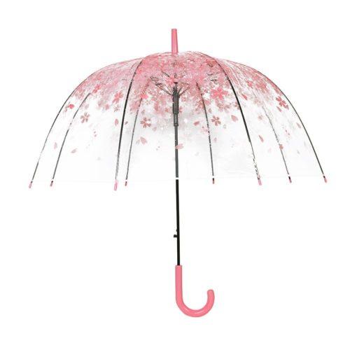 桜花柄ビニール傘