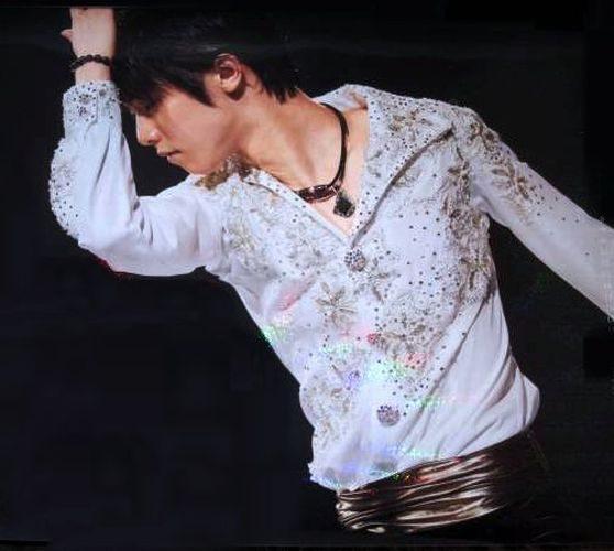 羽生結弦 白トラベラーシャツ アイスショー