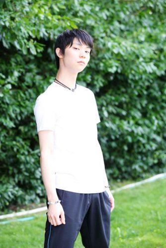 羽生結弦 公開練習 クリケットクラブ BBマガジン社 白Tシャツ