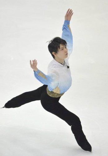 羽生結弦 SPバラ1 NHK杯 トリプルアクセル着氷