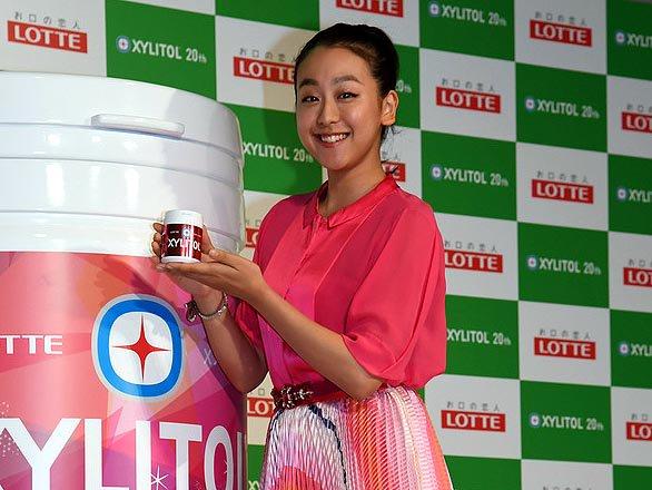 浅田真央 ロッテキシリトールボトルCM会見