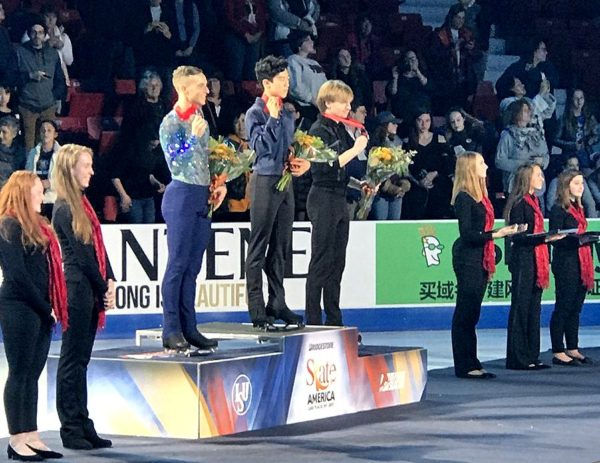 ネイサン×リッポン×ボロノフ スケートアメリカ表彰