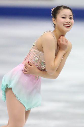 白岩優奈 SP亜麻色の髪の乙女 NHK杯