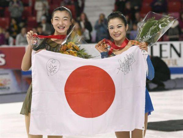 宮原知子×坂本花織 スケートアメリカ表彰