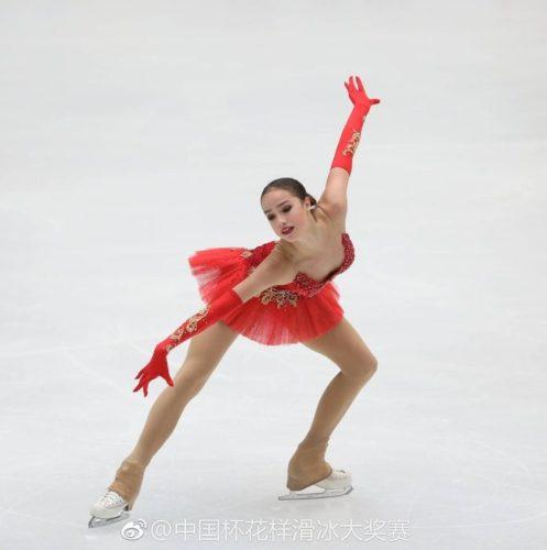 ザギトワ FS 中国杯