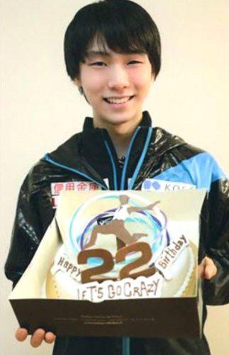 羽生結弦 22歳 誕生日ケーキ