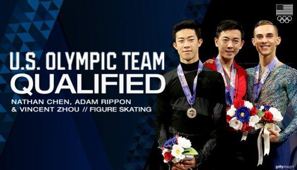 ネイサンチェン×アダム・リッポン×ヴィンセント・ジョウ 全米男子 オリンピック代表